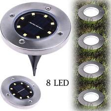 8 LED Solar Power Buried Light Ground Lamp Outdoor Path Way Garden Decking