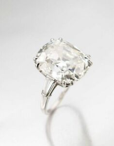 925 Sterling Silver Cocktail Ring Classic Three Stone 20ct Cushion Baguette Sz 7