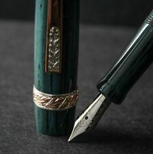 Stipula Vespri Siciliani Teal Green Ebonite Fountain Pen - M
