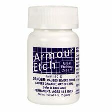 Armour Etch Glass Etching Cream USA Made Window Design 3 oz Bottle