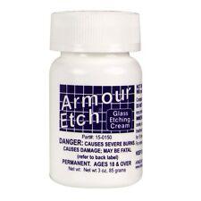 Armour Etch Glass Etching Cream USA Made Window Design 2.8 oz Bottle
