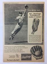 1963 Rawlings baseball glove ad ~ KEN BOYER St Louis Cardinals