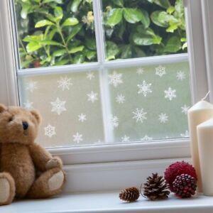 WINDOW CHRISTMAS XMAS DECORATION BORDER SNOW FLAKES sticker STATIC FILM 20x150cm