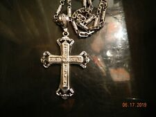 MIP-Chrome Rapper Cross Pendant with a matching 30 inch chain