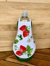 Strawberries Fruit Kitchen Dish Soap Bottle Apron  fits 25 oz