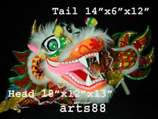 Kung Fu Authentic Dragon/Lion Dance Mask & Body, the Real Showoff !