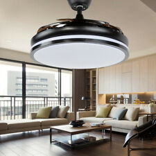 "42"" Modern LED Ceiling Fan Light Chandelier Lamp Retractable Blades W/Remote"