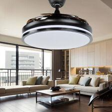 "42"" Modern LED Ceiling Fan Light Chandelier Lamp Retractable Blades W/Remote"