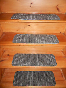 """13 = Step Indoor Stair Treads Staircase Step Rug Carpet 8"""" x 24"""" CN 15."""
