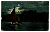 Early 1900s Yachting on White Bear Lake, St. Paul, MN Postcard *5N(2)4