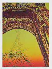 """PARIS"" -  Mixed Media Print By Internationally Acclaimed Artist Risaburo Kimura"