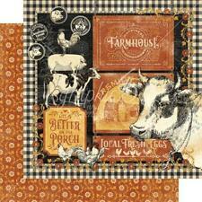 "Graphic 45 Farmhouse - FARMHOUSE - 12x12"" D/sided Scrapbooking Paper"