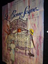 LA BONNE SOUPE Annie Girardot Marie Bell affiche cinema 1964