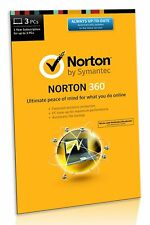 Norton 360 3 PC's / Devices 2018 - 2017 - 1 Year - License Activation Key