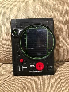 Vintage Hit and Missile handheld electronic game by Tomy 1979