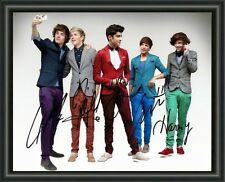ONE DIRECTION SIGNED AUTOGRAPHED A4 PHOTO POSTER  FREE POST
