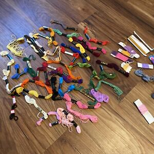 DMC Floss/Thread Lot 50 Pcs. Mixed Colors