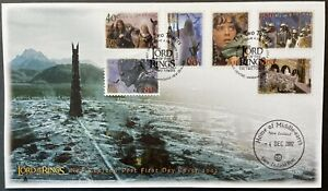 NEW ZEALAND LORD OF THE RINGS TWO TOWERS FDC STAMPS 2002 MIDDLE EARTH POSTMARK 2