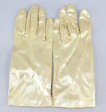 Gloves Vintage 6.5 Shimmer Gold 100% Nylon Lame' Ladies Gloves 100N