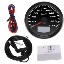85mm 200KM/H GPS Speedometer Gauge Tuning LCD Odometer 7 Colors LED Backlight