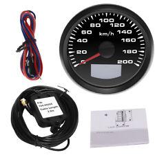 200KM/H 85mm GPS Speedometer Gauge Tuning LCD Odometer 7 Colors LED Backlight