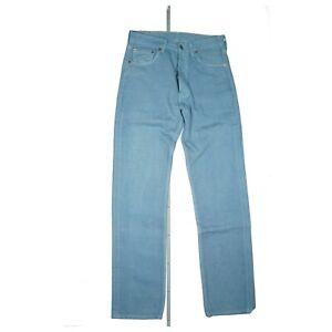 Levis 501 Femmes Pantalon Jeans Classic Rareté W28 L32 28/32 Usé Bleu Clair USA
