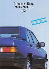 MERCEDES 190 Diesel 2.5 W201 Prospekt 1985 +++++++++++++++++++++++++++++++++++++