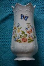 VINTAGE 1960s AYNSLEY Vase. Cottage Garden Design. Made in England - RARE SHAPE