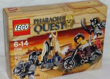 SEALED 7306 LEGO Pharaoh's Quest GOLDEN STAFF GUARDIANS motorcycle 70 pc RETIRED