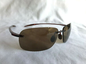 New Authentic Polarized  MAUI JIM  BREAKWALL Sunglasses  Rootbeer Frame  H422-26