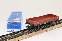 Märklin 4503 H0 Güterwagen Niederbordwagen Flachwagen der DB in OVP