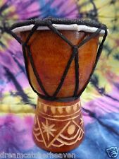 SWEET BABY 10 to 12 CM HIGH CARVED BONGO DRUM DJEMBE RRP $ 13 W/SALE OUTLET