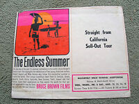 Vintage endless summer surf movie poster surfboard 1965 rare hawaii showing