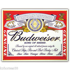 Budweiser Beer Label Refrigerator Magnet