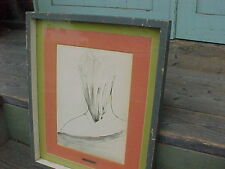 W/C SIGNED MID CENTURY MODERN  / WOMANS EROTIC PAINTING of her BACK & NECK