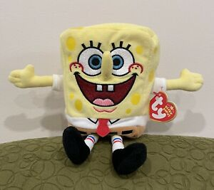 """2006 TY SPONGEBOB BEST DAY EVER BEANIE BABY 8"""" Plush - MINT with MINT TAGS"""