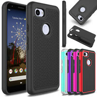For Google Pixel 3a / 3a XL Case Shockproof Hard Rugged Rubber Slim Armor Cover