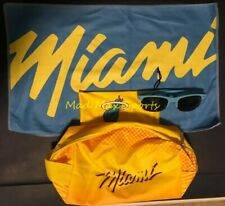 MIAMI HEAT Vice WAVE City COLLECTION On-Court BENCH Towel SUNGLASSES Dwyane Wade