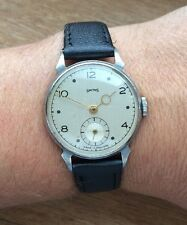Smiths A302 Pre-deluxe Watch 1948 Early Steel Mechanism Serviced/timed