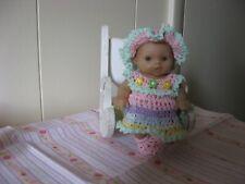 "Multi Colored Dress Set For 5"" Ooak/Reborn Berenguer Doll"