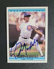 Greg Maddux signed Chicago Cubs 1992 Donruss Baseball Card