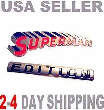 SUPERMAN EDITION EMBLEM 3D Car Truck TOYOTA Logo Decal SUV SIGN Ornament BADGE