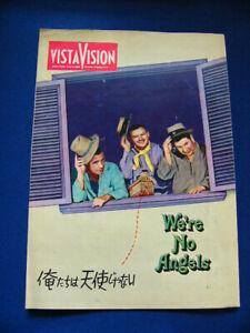 1955 WE'RE NO ANGELS Japan Program Humphrey Bogart Aldo Ray Peter Ustinov