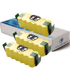 Lot de 3 batteries 14.4V 3500mAh pour iRobot Roomba 555 - Société Française -