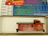 HO scale roundhouse Steel Caboose   Santa Fe