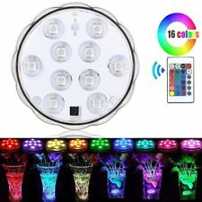 Swimming Pool Spa Bath 10 LED Lights Remote Waterproof Underwater+Remote