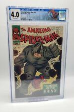 Amazing Spider-Man #41 CGC 4.0 Custom Spidey Label 1st app RHINO Marvel 1966