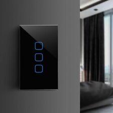 Touch Switch EU US Standard Glass Panel 1 2 3 Gang Wall Light 110V 220V LED New