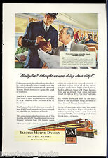 1947 Electro Motive Diesel advertisement, ILLINOIS CENTRAL Panama Limited