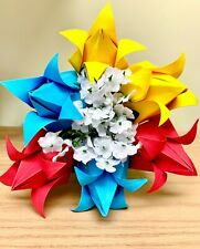 Origami Paper Tulips flowers bouquet centerpiece home decor gift